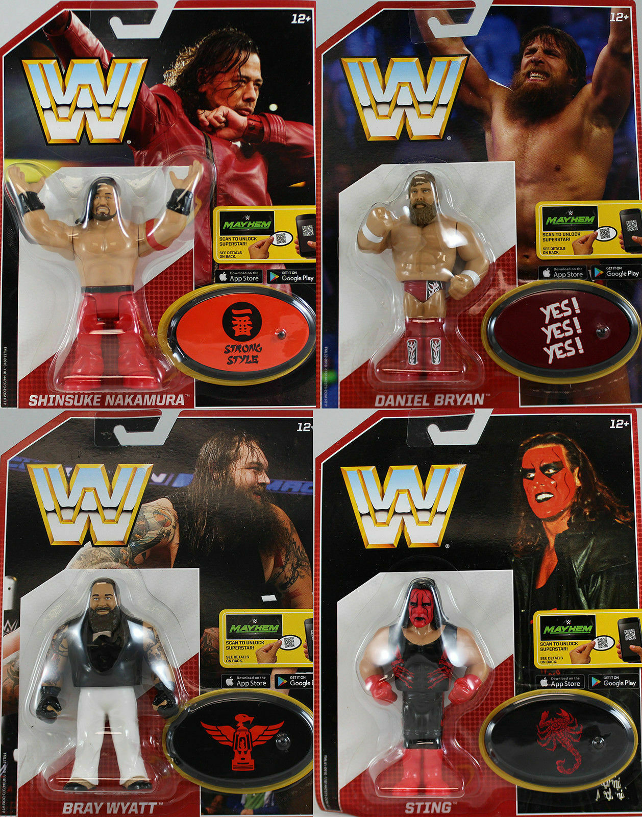 WWE ALL 4 RETRO APP ACTION MATTEL SERIES 6 WRESTLING FIGURE WRESTLER TOY ACTION