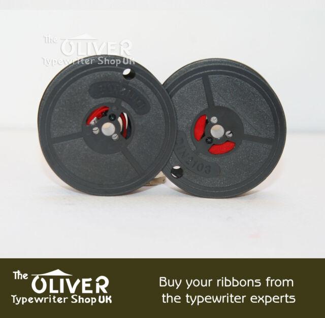 OLIVETTI LETTERA 22 24 32 STUDIO 45 D82 TWIN SPOOL TYPEWRITER RIBBON BLACK