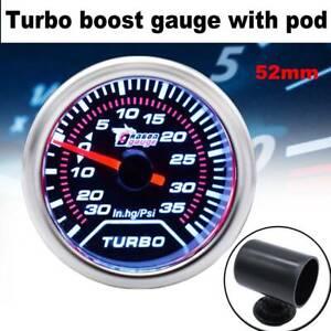 Universal-Car-2-034-52mm-LED-Turbo-Boost-Gauge-Pod-Vacuum-Pressure-35-PSI-Pointer