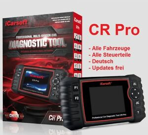 iCarsoft CR PRO Universeller 45 Auto Scanner ALLE SYSTEME OBD2 & Online Service
