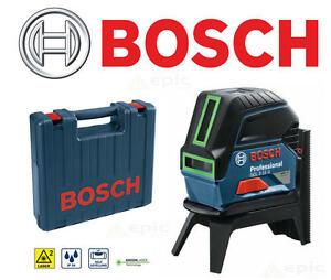 bosch 15m gcl 2 15g self levelling green cross line laser plumb level case ebay. Black Bedroom Furniture Sets. Home Design Ideas