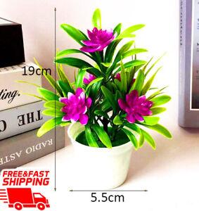Artificial-Flowers-In-Pots-Lotus-Flower-Plastic-Pot-Plant-Bonsai-Decoration