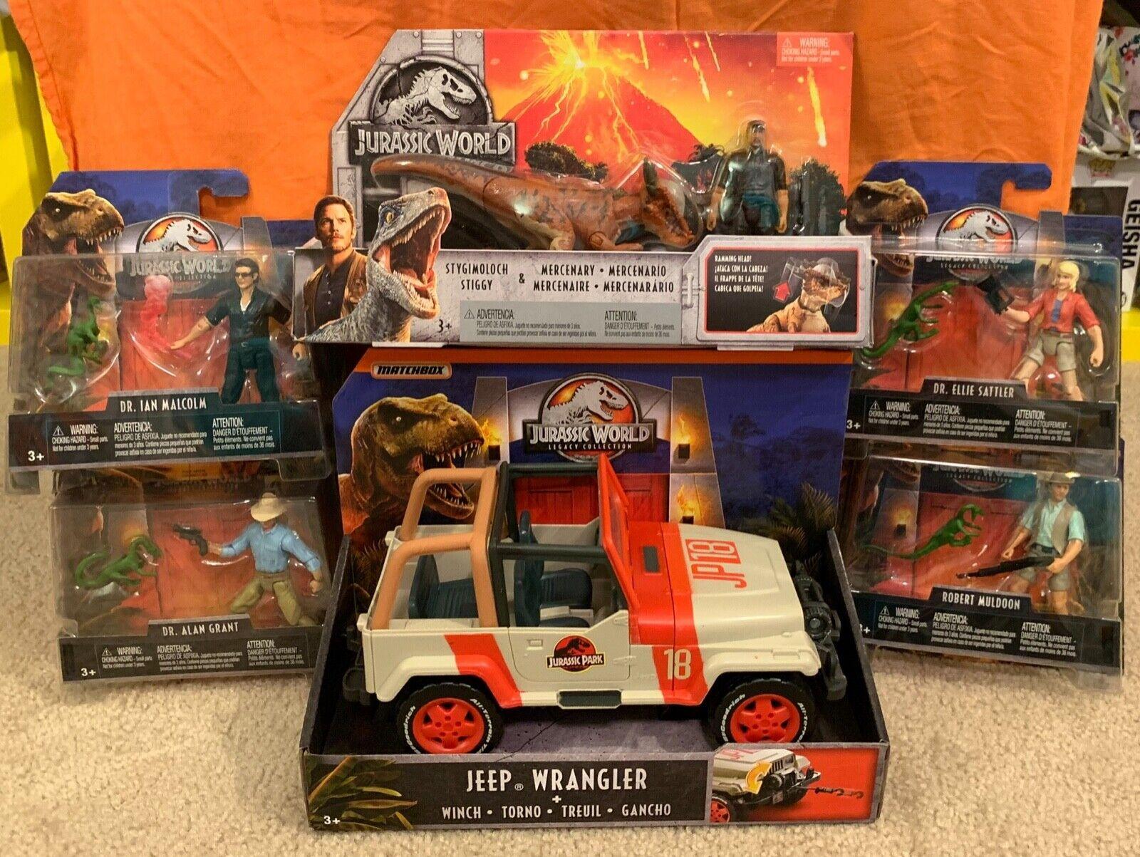 Jurassic World Mattel Mattel Mattel JP 18 Jeep, Stygimoloch works w  app Ellie, Alan, Ian NEW d02272