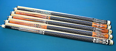 """SET OF 10 POOL CUES New 58/"""" Canadian Maple Billiard Pool Cue Stick #5 FREE SHIP"""