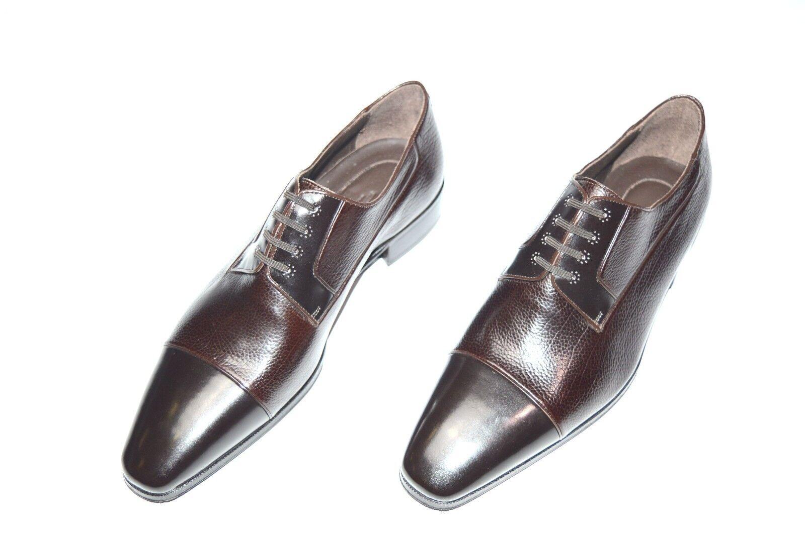 NEW STEFANO RICCI Leather  Luxury Shoes Size Eu 42 Uk 8 Us 9 (Cod S714)