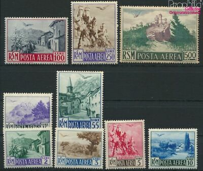 9288726 Postfrisch 1950 Flugpostmarken Herrlich San Marino 442-450 kompl.ausg.