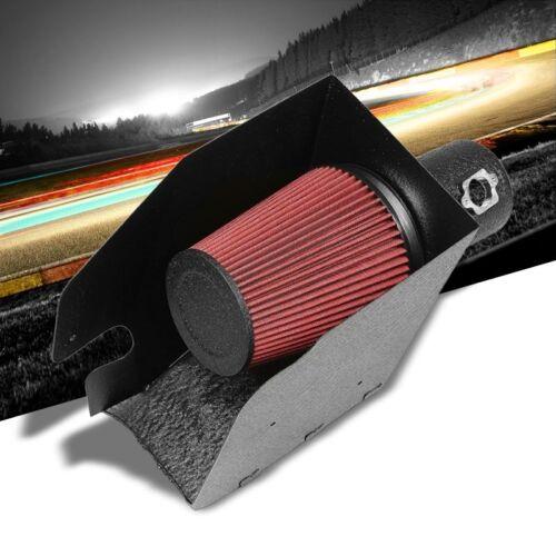 Black Air Intake Kit+Heat Shield For Ford 08-10 F250//F350//F450 6.4L V8 Diesel