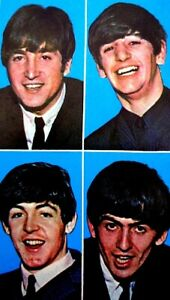Beatles-1964-Vintage-Postcard-Paul-John-George-Ringo-Fab-Four-Original-EX-COA