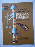 North American Indian Design Coloring Book By Paul E. Kennedy (1971, Paperback)