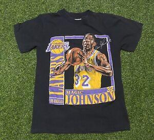 1991-Lakers-Magic-Johnson-Nutmeg-Single-Stitch-Double-Sided-Tee-Sz-M-USA-Made