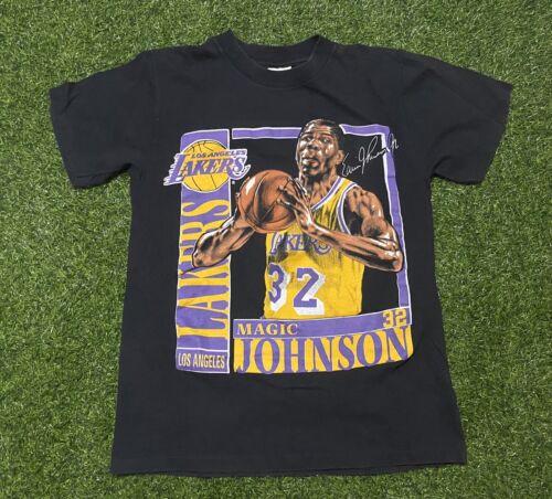 1991 Lakers Magic Johnson Nutmeg Single Stitch Do… - image 1