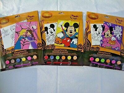 3 New Disney Minnie Mickey Mouse Anne Elsa Halloween Coloring Paint Sets Water 639277854728 Ebay
