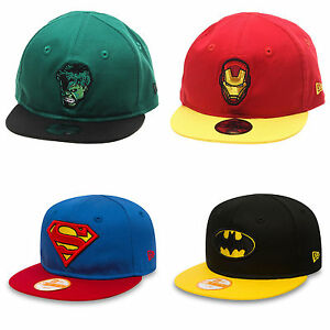 327a3a43d56 New Era Baby Superhero Marvel   DC Snapback 9fifty Infant Kids Cap ...