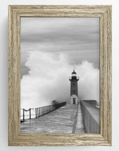 Photo Poster Picture Frame Padstow Modern Large Solid Grey Black Brown Wooden