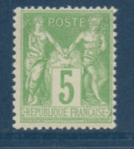 TIMBRE-N-102-NEUF-SANS-CHARNIERE-GOMME-ORIGINALE-COTE-52-EUROS-VALUE