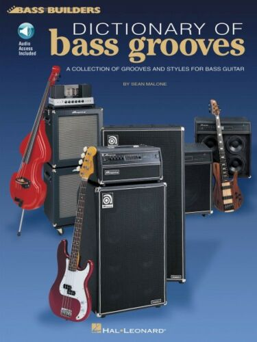 Audio NEW 000695266 Dictionary of Bass Grooves Sheet Music Bass Builders Book