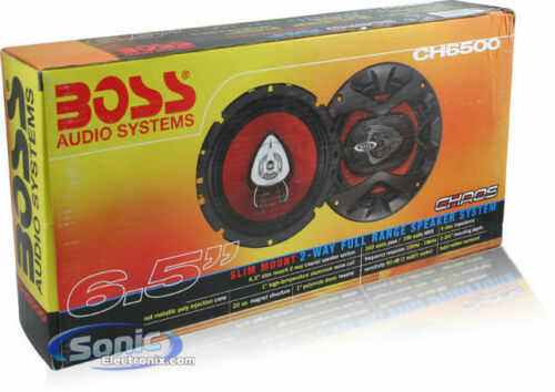 """New BOSS CH6500 6.5/"""" 2-Way 200W Slim Mount Car Coaxial Speakers Audio Stereo 2"""
