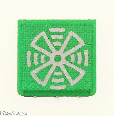 Schalter Symbol Symbolscheibe Rundumleuchte grün Hella ENG Anzeigeleuchten