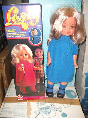 In Staat Furga Lesly Leslie Canta E Cammina Rara!! '70 Poupee Muneca Vintage Bambola Doll