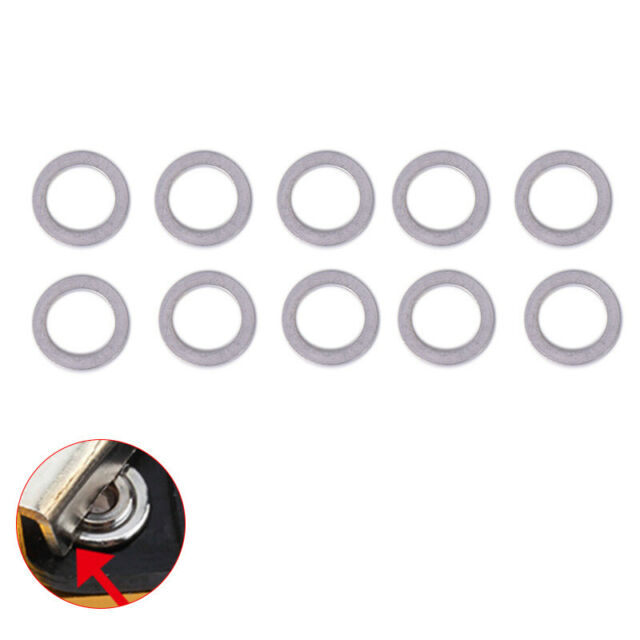10Pcs 2mm Bicycle Chain Wheel Screw Washer Alloy Spacer Double Change Single  ES