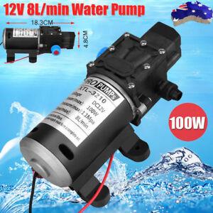 High-Pressure-Self-Priming-Water-Pump-12V-100W-8Lpm-Caravan-Camping-Boat-AU-SHIP