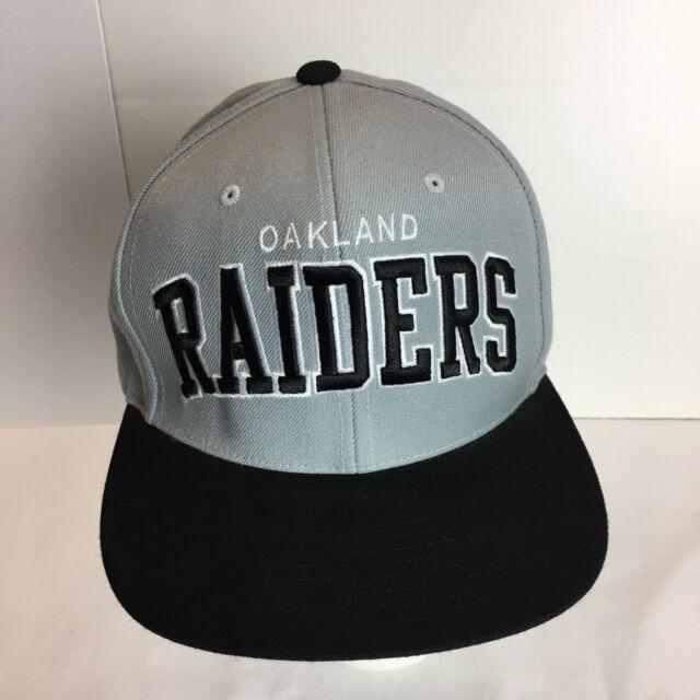 06e518f6 Oakland Raiders Hat Mitchell & Ness Snapback Gray Black NFL Embroidered  Football