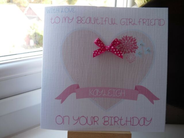 Handmade Personalised Female Birthday Card Wife Girlfriend Fiancee Daughter Etc For Sale Online