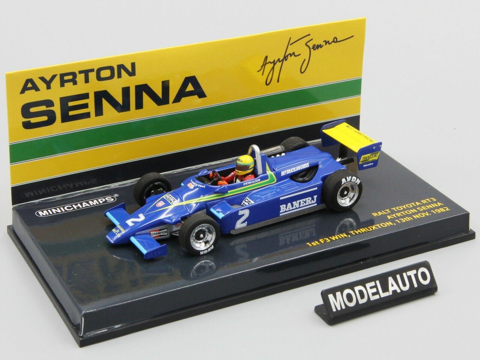 Minichamps 1 43 Ralt Toyota RT3 Ayrton Senna  1st F3 Win Thruxton 13 Nov. 1982