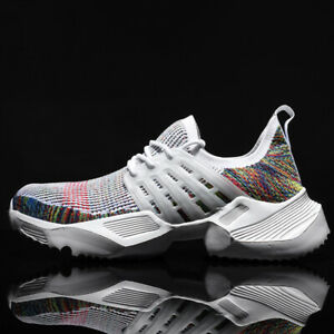 Men-039-s-Athletic-Sneakers-Outdoor-Casual-Flyknit-Sports-Shoes-Breathable-Running