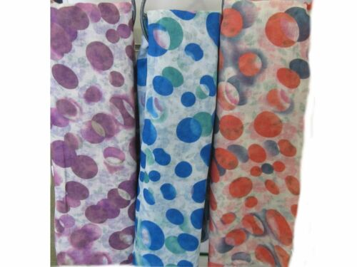 LADIES FLORAL SPOTTED 91381 LONG REVERSIBLE STOLE SCARVES SOFT NECK WRAP SCARF