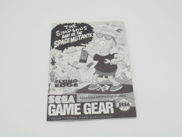 Simpsons: Bart vs. The Space Mutants (Sega Game Gear, 1992) Manual