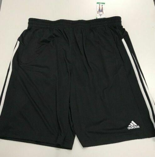 Adidas Mens Black Climalite Athletic Shorts Three Stripe