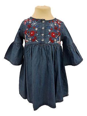 Abito In Denim Bambina Set Vestito Bimba Casual 2 3 4 5 6 7 8 Anni Nuovo Prezzo Consigliato £ 14-mostra Il Titolo Originale