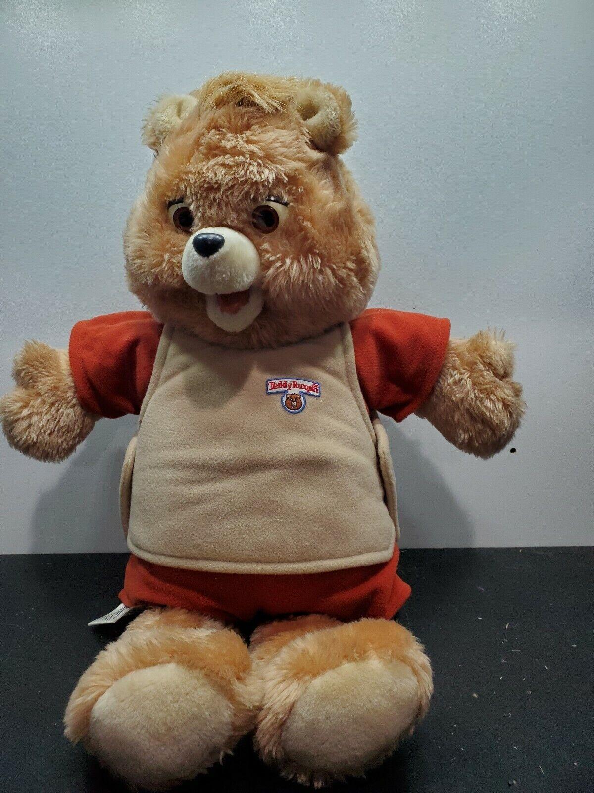 1984   1985 Teddy Ruxpin Talking Bear Plush Welts Of Wonder Spielzeug Music JAW BROKE