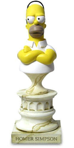 SIMPSONS HOMER resin bust 18cm ltd 5000 by Sideshow