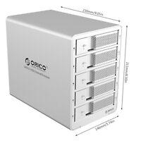 "ORICO 9558U3 Aluminium 5 Bay 3.5"" Hard Drive Enclosure USB 3.0 HDD 8TB Disk Dock"