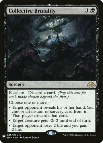 English Mystery Booster MTG Magic 1x Collective Brutality NM-Mint