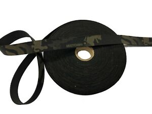 25mm-1-034-Simple-Face-Crye-Multicam-Noir-Elastique-Militaire-Sangle-Mtp