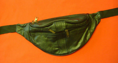 Nouveau cuir noir sacoche ceinture poche zip 4 102.