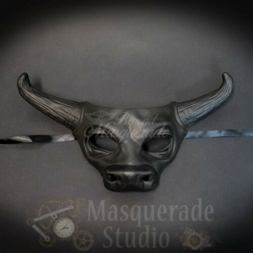 Cow Bull Animal Spirit Halloween Wall Decoration Masquerade Mask Black