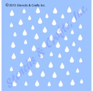 Image Is Loading MINI RAINDROPS STENCIL PATTERN RAIN CRAFT STENCILS TEMPLATE