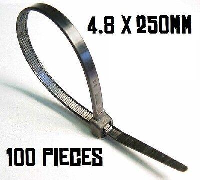 Responsabile Partex 4.8 X 250mm Fascette. 100 Pack. Alta Qualità, Cravatte Di Marca- Così Efficacemente Come Una Fata