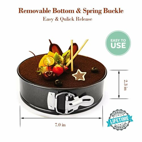 7 Inch Carbon Steel Non-stick Springform Cheesecake Pan Leakproof Round Cake Pan
