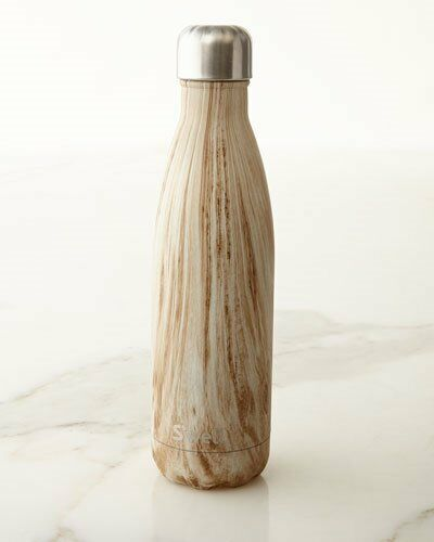 NEW NIB S'WELL BLONDE WOOD 17OZ WATER BOTTLE SWELL HAND PAINTED