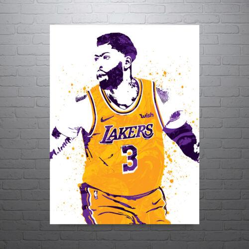 Anthony Davis LA Lakers Purple Poster FREE US SHIPPING