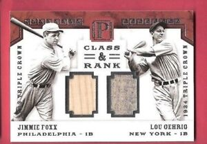 LOU-GEHRIG-JIMMIE-FOXX-GAME-USED-JERSEY-amp-BAT-CARD-d4-10-1-OF-1-2016-PANTHEON