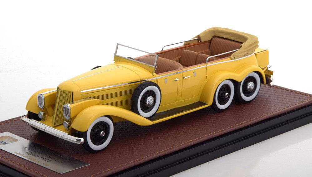HISPANO SUIZA H6A VICTORIA TOWN CAR 1923 giallo GLM 43215002 1/43 RESINE GELB