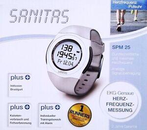 SANITAS-SPM-25-Pulsuhr-mit-Brustgurt-Pulsmessgeraet-Herzfrequenzmessung-EKG-genau