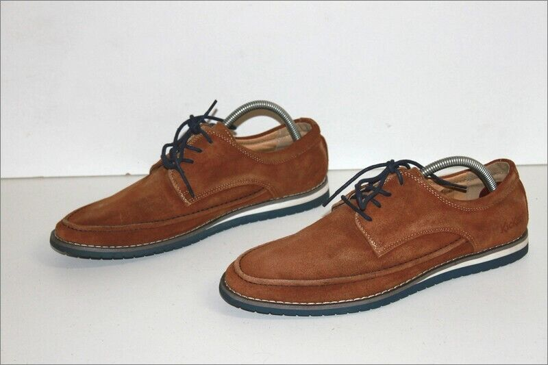 Kickers Derby To Shoelaces Man Suede Light Brown Lined Leather T 40 Be