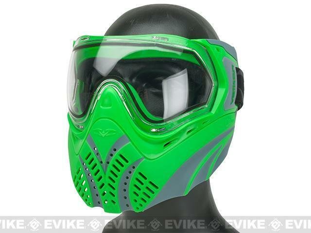Valken Paintbtutti Identity Mask with Dual Pane Thermal Lens verdegrigio Paint Btutti